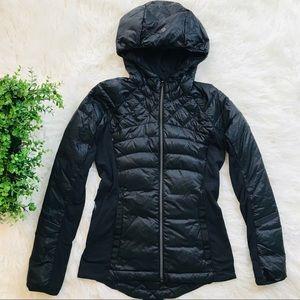 Lululemon Down/Puffer Coat Black Hooded 6